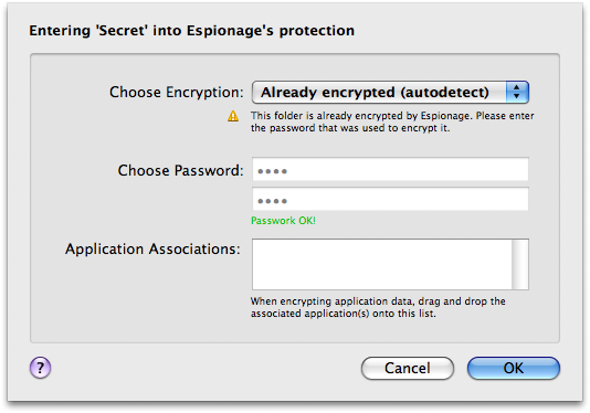 Auto-detection of encryption settings