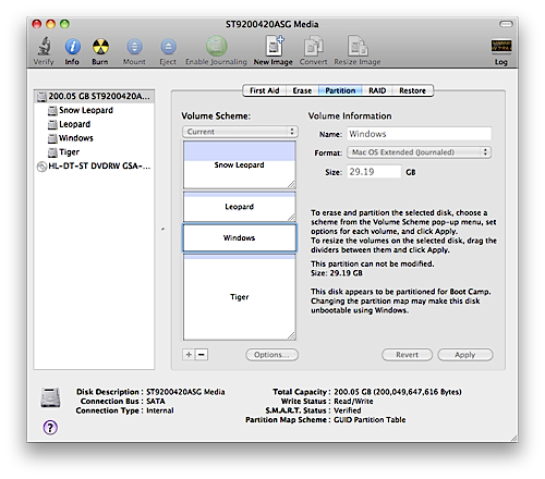 Disk Utility Partition Map